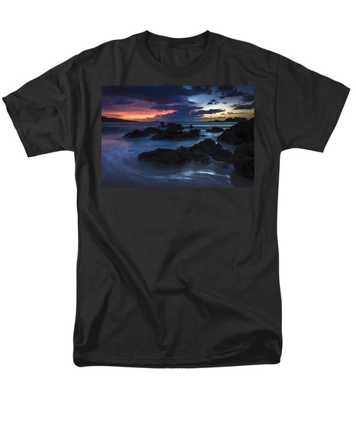 Men's T-Shirt  (Regular Fit) featuring the photograph El Villar Beach Galicia Spain by Pablo Avanzini