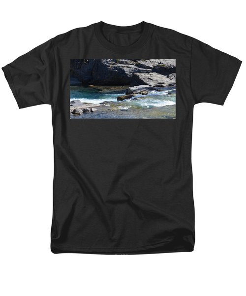 Elbow Falls Landscape Men's T-Shirt  (Regular Fit) by Cheryl Miller