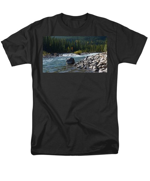 Elbow River Rock Art Men's T-Shirt  (Regular Fit) by Cheryl Miller