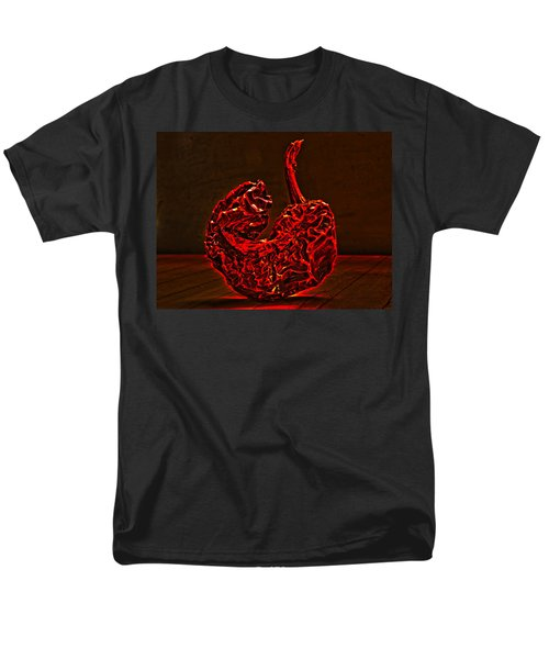 Electric Red Pepper Men's T-Shirt  (Regular Fit) by Joe Schofield