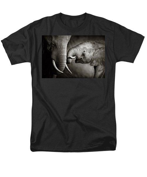 Elephant Affection Men's T-Shirt  (Regular Fit) by Johan Swanepoel