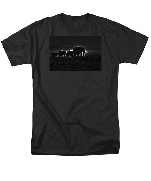 Elephant Family Men's T-Shirt  (Regular Fit)