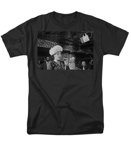 Ella Fitzgerald And Dizzy Gillespie William Gottleib Photo Unknown Location September 1947-2014. Men's T-Shirt  (Regular Fit) by David Lee Guss