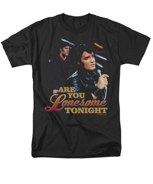 Elvis - Are You Lonesome Men's T-Shirt  (Regular Fit) by Brand A