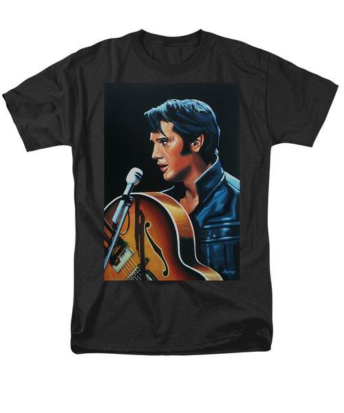 Elvis Presley 3 Painting Men's T-Shirt  (Regular Fit) by Paul Meijering