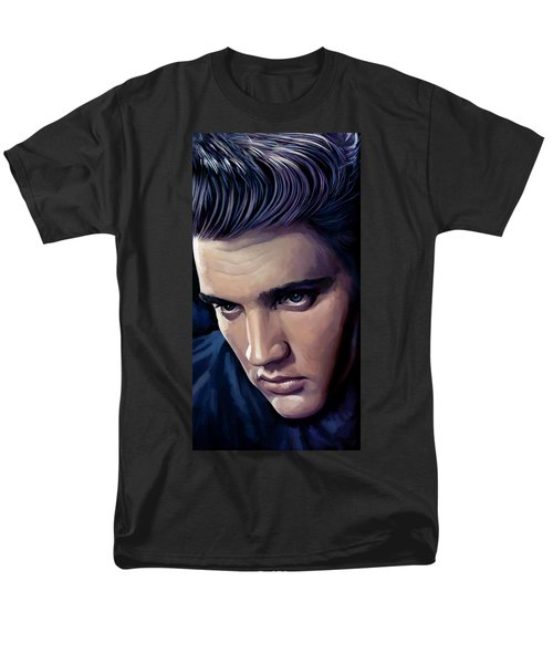 Elvis Presley Artwork 2 Men's T-Shirt  (Regular Fit) by Sheraz A