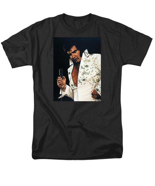 Elvis Presley Painting Men's T-Shirt  (Regular Fit) by Paul Meijering