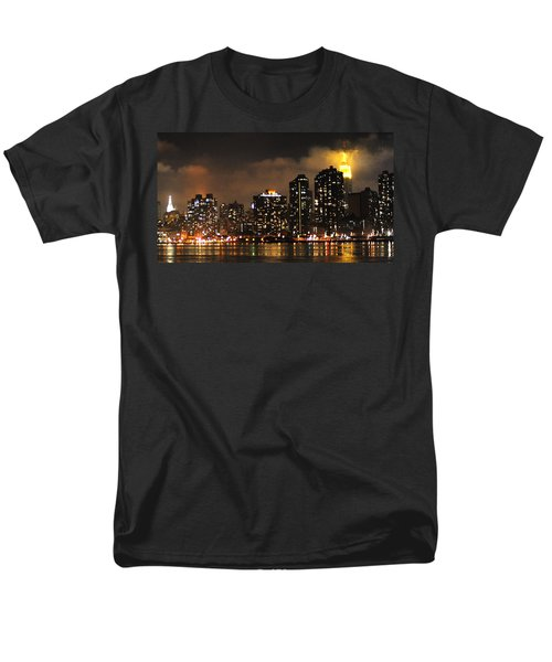Empire State Building From Long Island City Men's T-Shirt  (Regular Fit) by Steve Archbold