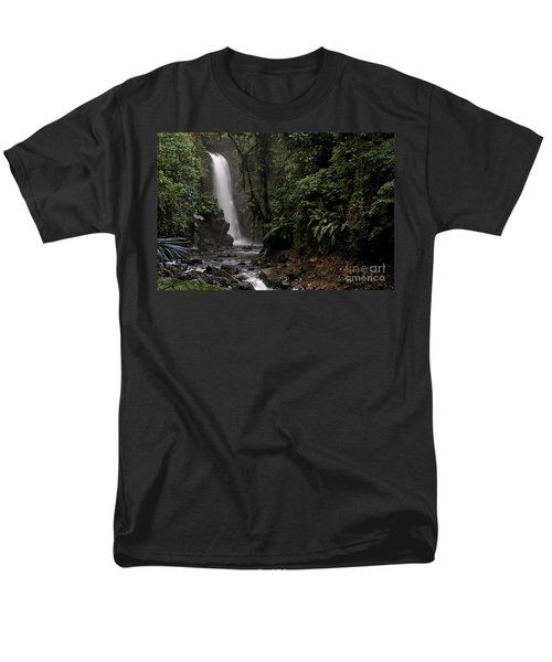 Encantada Waterfall Costa Rica Men's T-Shirt  (Regular Fit) by Teresa Zieba