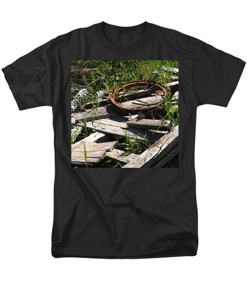 Men's T-Shirt  (Regular Fit) featuring the photograph End Of The Line by Meghan at FireBonnet Art