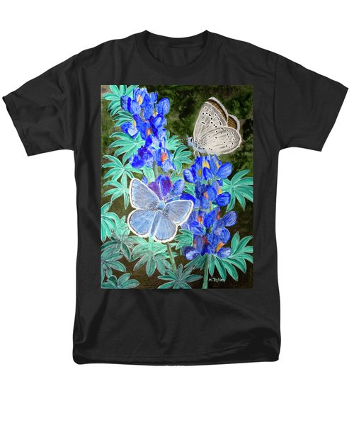 Endangered Mission Blue Butterfly Men's T-Shirt  (Regular Fit) by Mike Robles