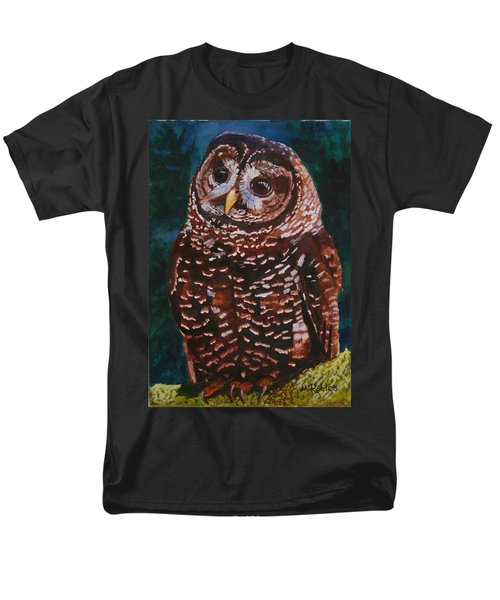 Endangered - Spotted Owl Men's T-Shirt  (Regular Fit) by Mike Robles