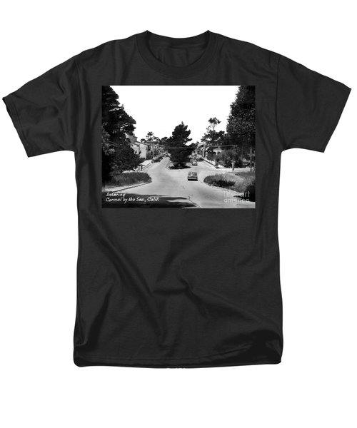 Entering Carmel By The Sea Calif. Circa 1945 Men's T-Shirt  (Regular Fit) by California Views Mr Pat Hathaway Archives