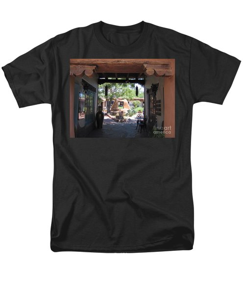 Men's T-Shirt  (Regular Fit) featuring the photograph Entrance To Market Place by Dora Sofia Caputo Photographic Art and Design