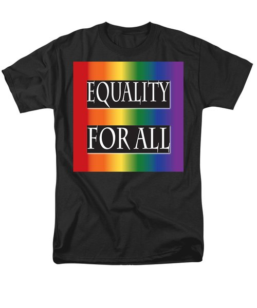 Equality Rainbow Men's T-Shirt  (Regular Fit) by Jamie Lynn