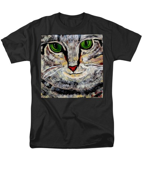 Ethical Kitty See's Your Dilemma Men's T-Shirt  (Regular Fit) by Lisa Brandel