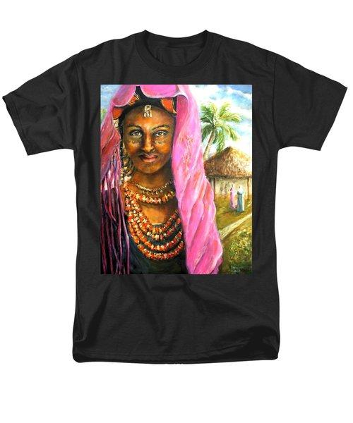 Men's T-Shirt  (Regular Fit) featuring the painting Ethiopia Bride by Bernadette Krupa