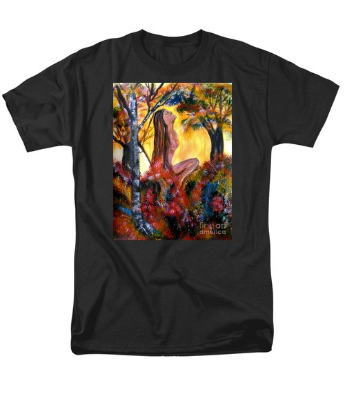 Men's T-Shirt  (Regular Fit) featuring the painting Eve In The Garden by Lori  Lovetere