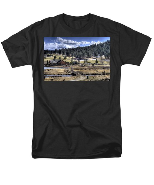 Evergreen Colorado Lakehouse Men's T-Shirt  (Regular Fit) by Ron White