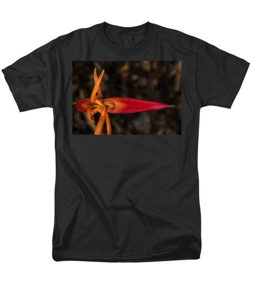 Men's T-Shirt  (Regular Fit) featuring the photograph Exotic Heliconia by Steven Sparks