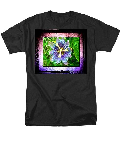 Men's T-Shirt  (Regular Fit) featuring the photograph Exotic Strange Flower by Absinthe Art By Michelle LeAnn Scott