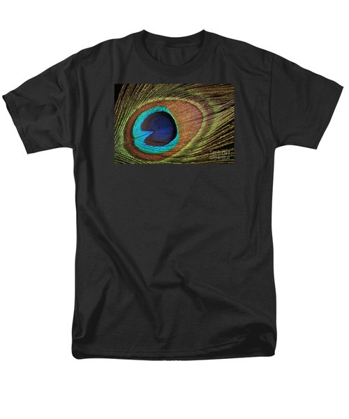 Eye Of The Peacock Men's T-Shirt  (Regular Fit) by Judy Whitton