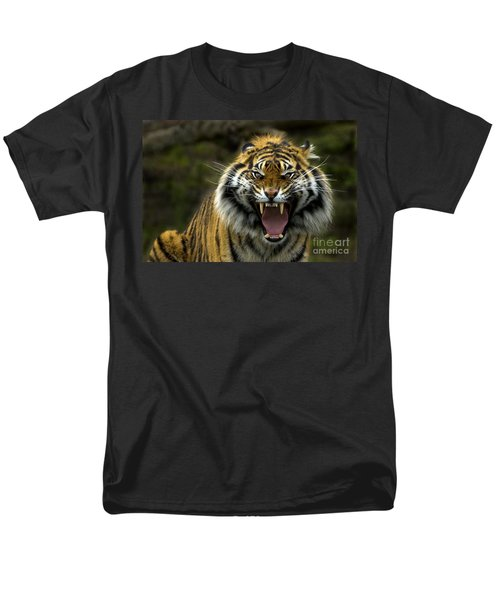 Men's T-Shirt  (Regular Fit) featuring the photograph Eyes Of The Tiger by Mike  Dawson