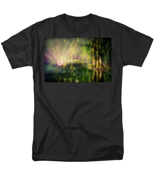Fairy In Pink Bubble In Serenity Forest Men's T-Shirt  (Regular Fit) by Lilia D