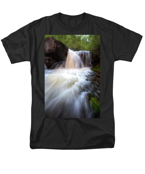 Men's T-Shirt  (Regular Fit) featuring the photograph Fall And Splash by David Andersen