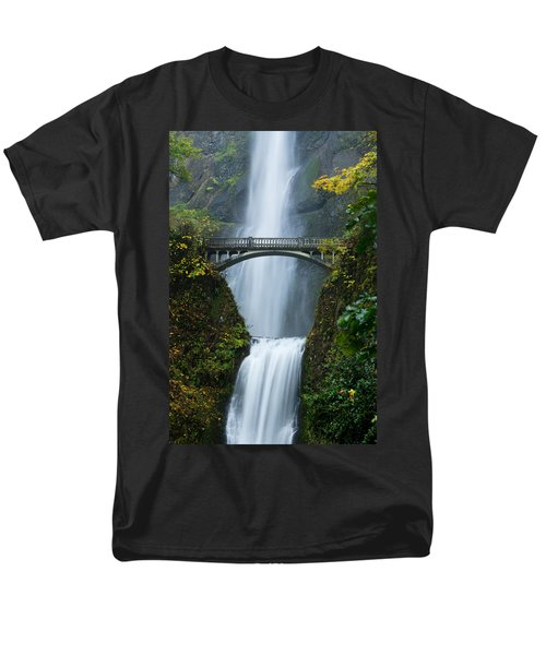 Fall At Multnomah Falls Men's T-Shirt  (Regular Fit) by Don Schwartz