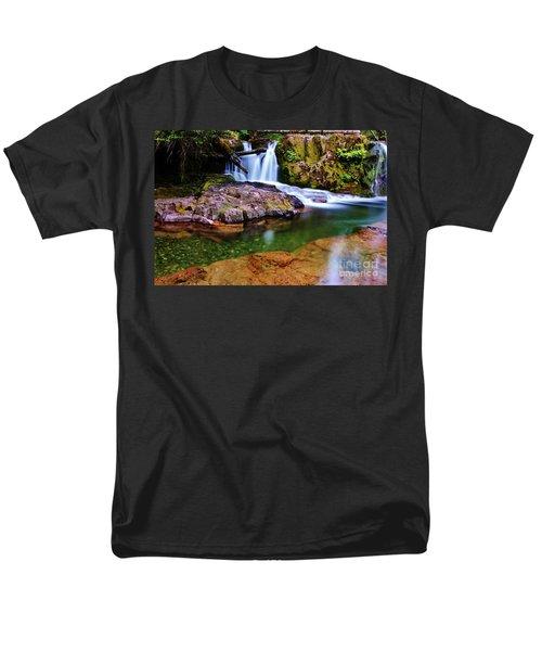 Fall Creek Oregon Men's T-Shirt  (Regular Fit) by Michael Cross