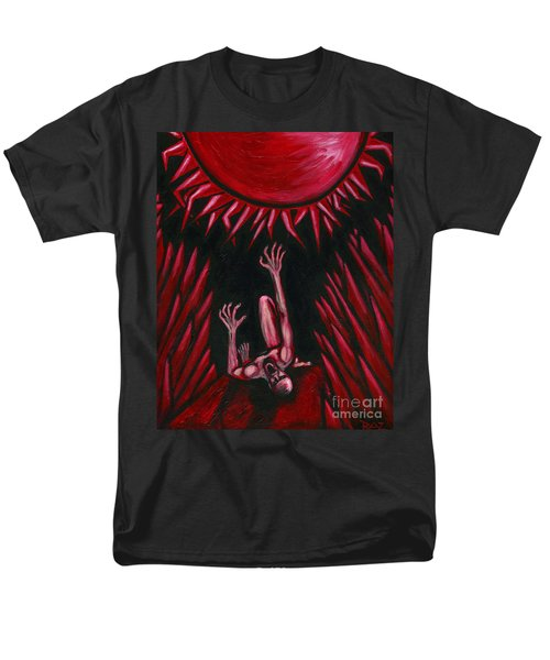 Men's T-Shirt  (Regular Fit) featuring the painting Fall Of Icarus by Roz Abellera Art