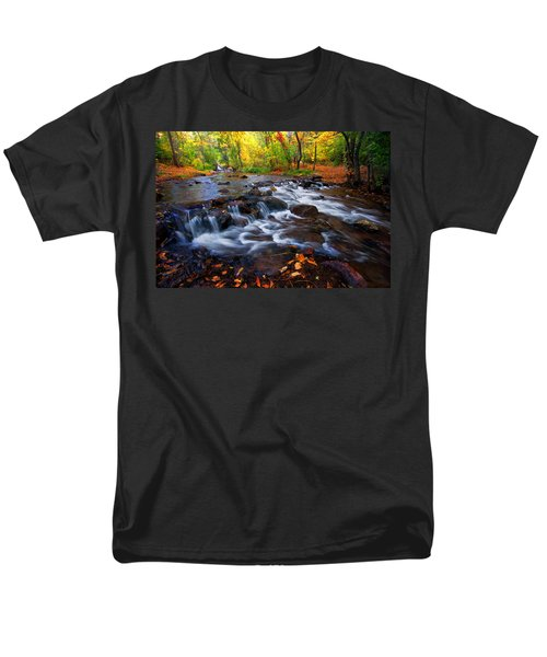 Men's T-Shirt  (Regular Fit) featuring the photograph Fall On Fountain Creek by Ronda Kimbrow