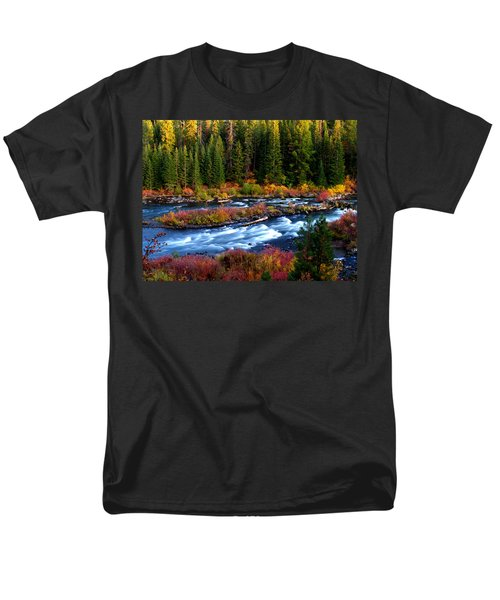 Men's T-Shirt  (Regular Fit) featuring the photograph Fall On The Deschutes River by Kevin Desrosiers