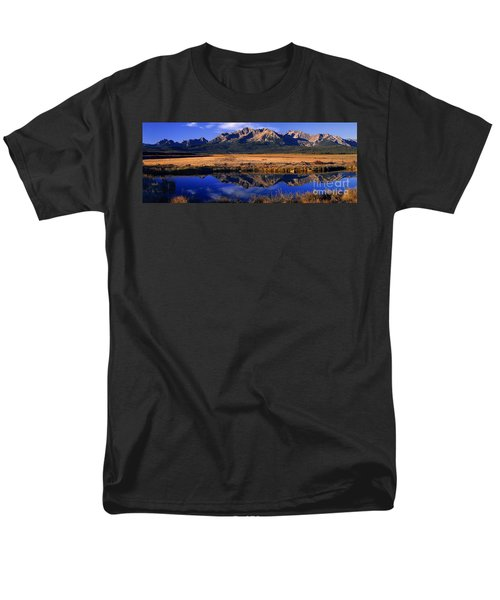 Men's T-Shirt  (Regular Fit) featuring the photograph Fall Reflections Sawtooth Mountains Idaho by Dave Welling