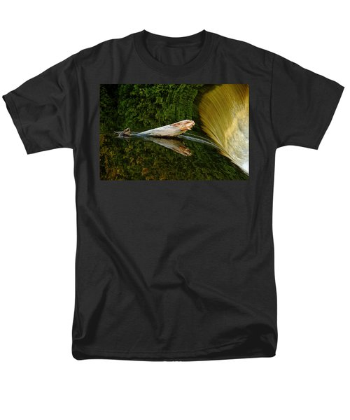 Men's T-Shirt  (Regular Fit) featuring the photograph Falling Tree Reflections by Debbie Oppermann