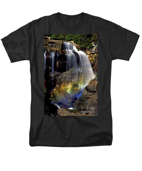 Falls And Rainbow Men's T-Shirt  (Regular Fit) by Paul W Faust -  Impressions of Light