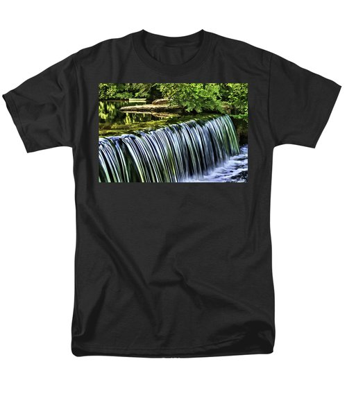 Men's T-Shirt  (Regular Fit) featuring the painting Falls by Muhie Kanawati