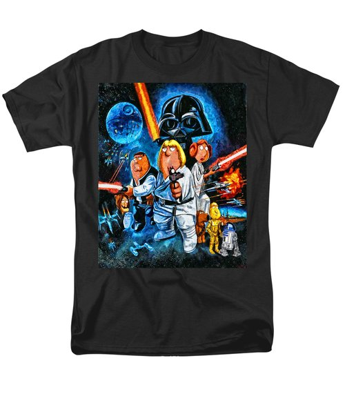 Family Guy Star Wars Men's T-Shirt  (Regular Fit) by Joe Misrasi
