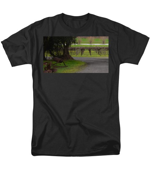 Farm And Vineyard Men's T-Shirt  (Regular Fit) by Cheryl Miller