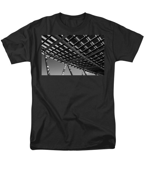 Men's T-Shirt  (Regular Fit) featuring the photograph Farming The Sun - Architectural Abstract by Steven Milner