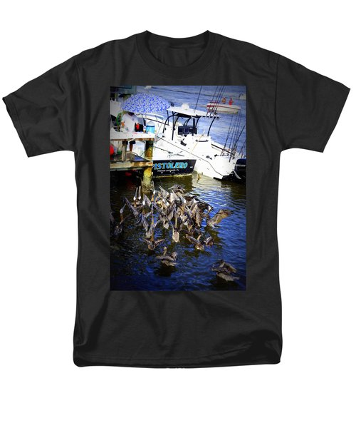 Men's T-Shirt  (Regular Fit) featuring the photograph Feeding Frenzy by Laurie Perry
