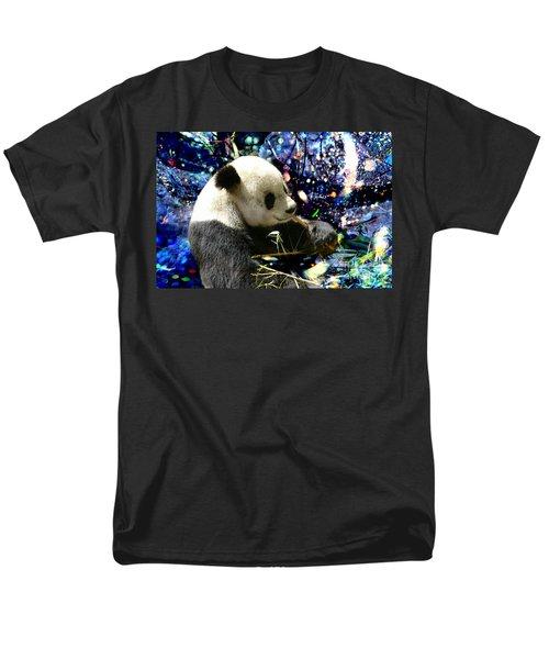 Festive Panda Men's T-Shirt  (Regular Fit) by Mariola Bitner