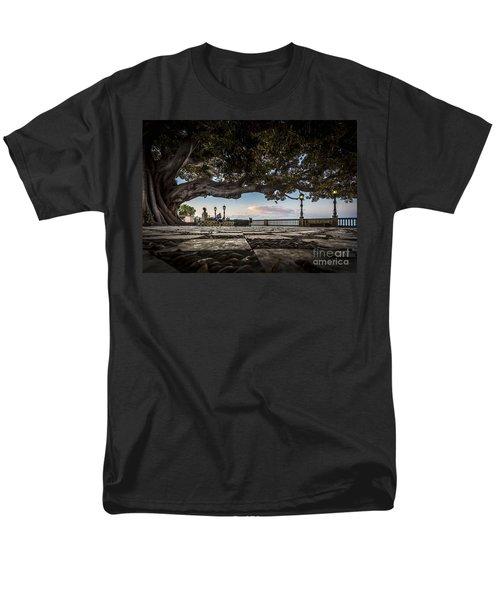 Ficus Magnonioide In The Alameda De Apodaca Cadiz Spain Men's T-Shirt  (Regular Fit) by Pablo Avanzini