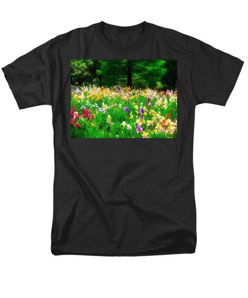 Field Of Iris Men's T-Shirt  (Regular Fit) by Peggy Franz