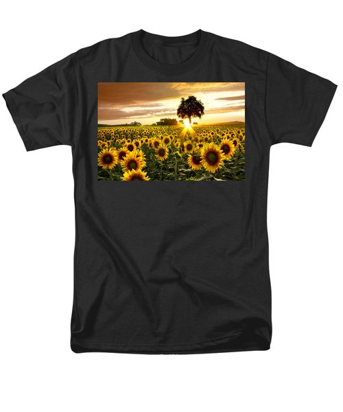 Fields Of Gold Men's T-Shirt  (Regular Fit) by Debra and Dave Vanderlaan