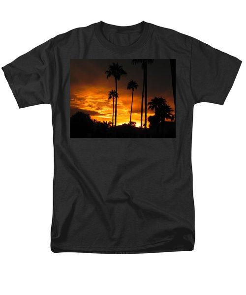 Men's T-Shirt  (Regular Fit) featuring the photograph Fiery Sunset by Deb Halloran