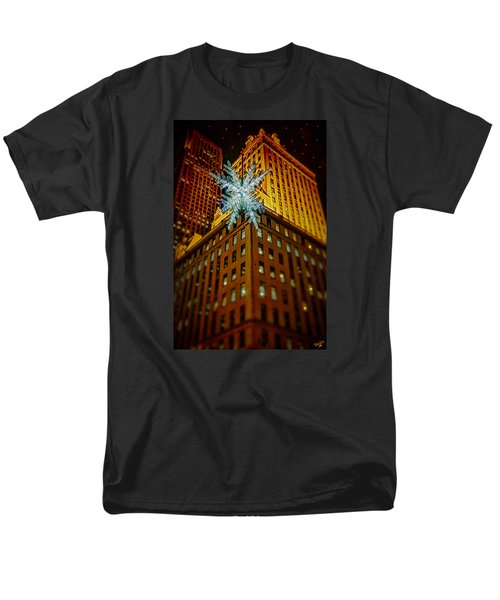 Men's T-Shirt  (Regular Fit) featuring the photograph Fifth Avenue Holiday Star by Chris Lord