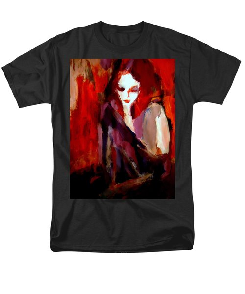 Men's T-Shirt  (Regular Fit) featuring the painting Finesse by Helena Wierzbicki