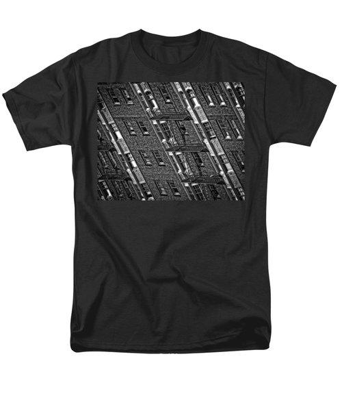 Fire Escape - Monochrome Men's T-Shirt  (Regular Fit) by Mark Alder